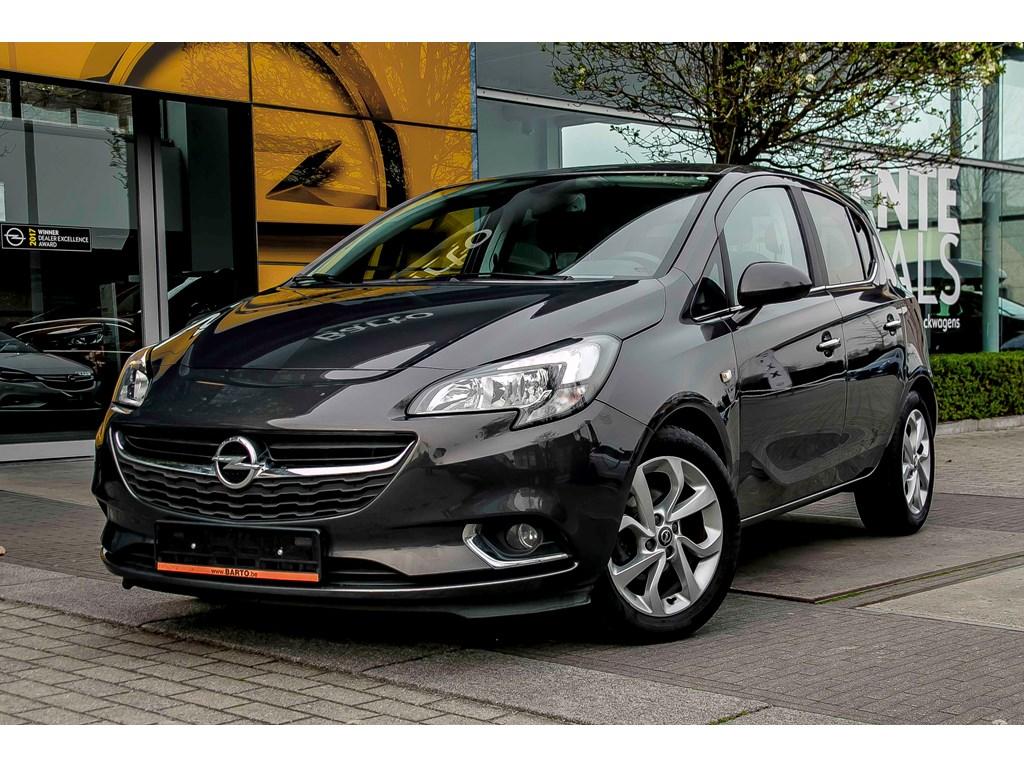 Opel-Corsa-Anthraciet-14b-90pk-Auto-Airco-Parkeersens-achter-Intellilink-