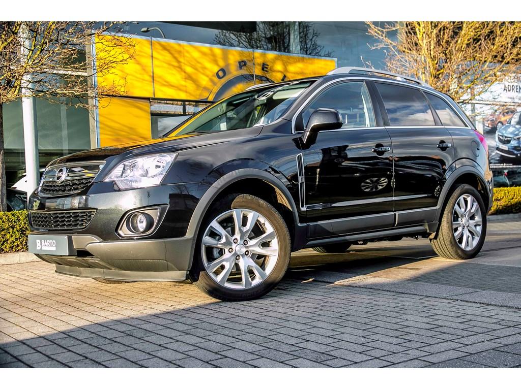 Tweedehands te koop: Opel Antara Zwart - 22d 163pk - Lederverwarmd - Auto Airco - Navi - trekhaak -