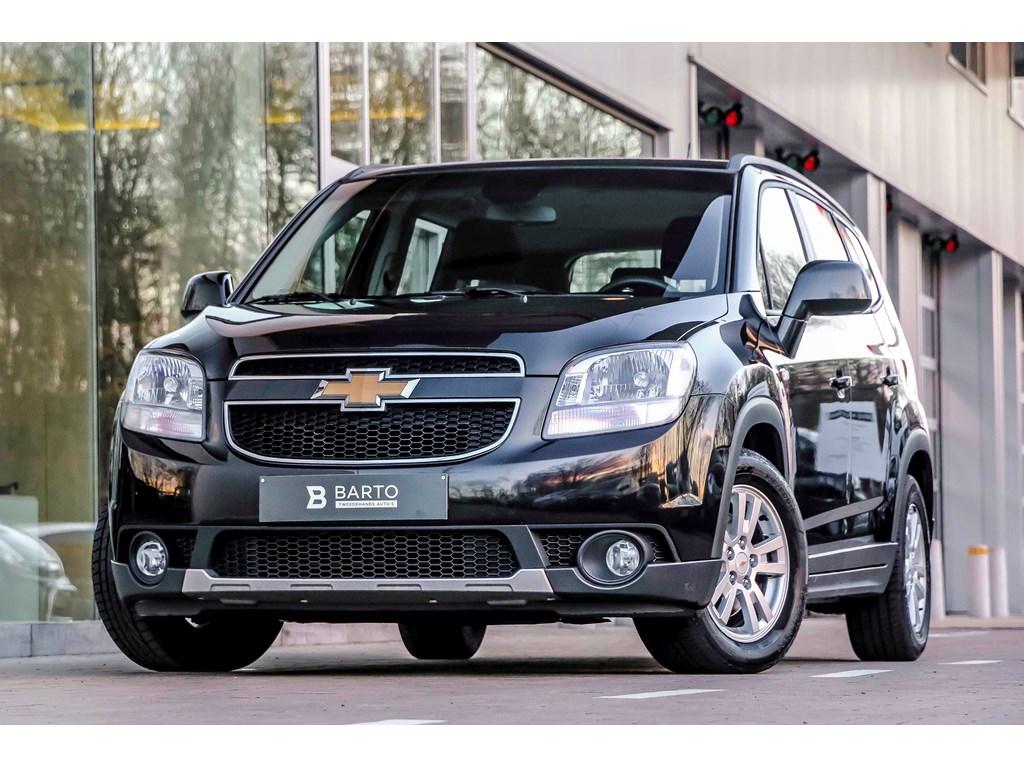 Tweedehands te koop: Chevrolet Orlando Zwart - 20d 130pk - LTZ -Auto Airco - 7 zit - Parkeersens va -