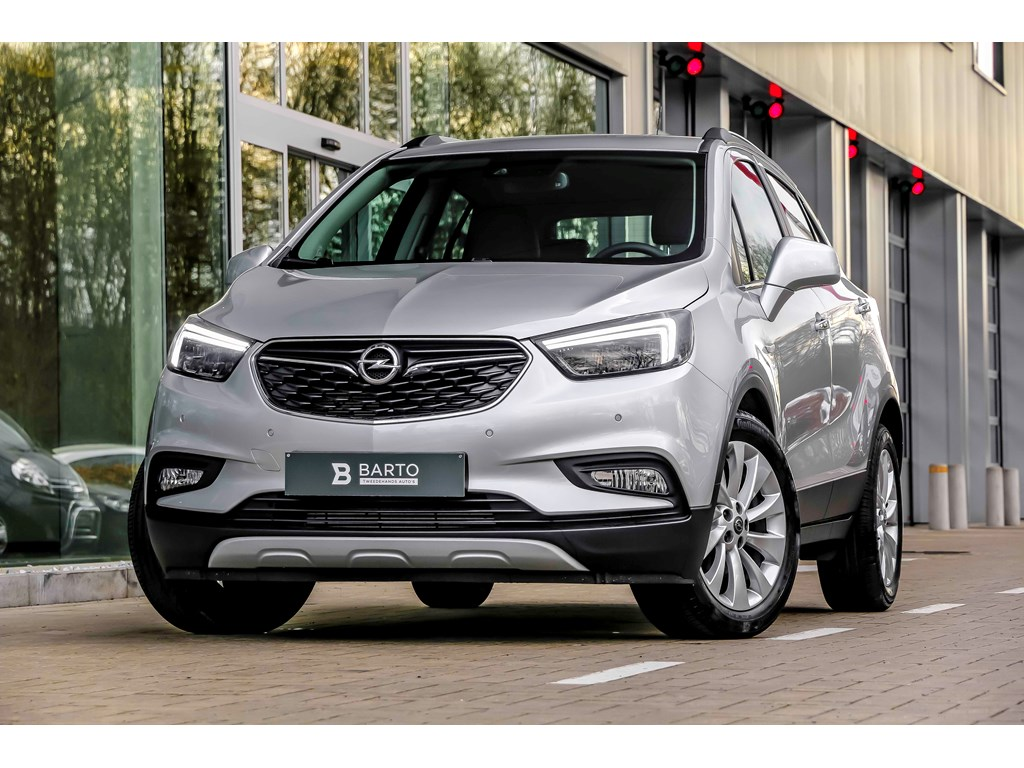 Tweedehands te koop: Opel Mokka Zilver - 14 Turbo benz Innovation - Matrix Led - Leder - Camera - Keyless - Weinig Kms