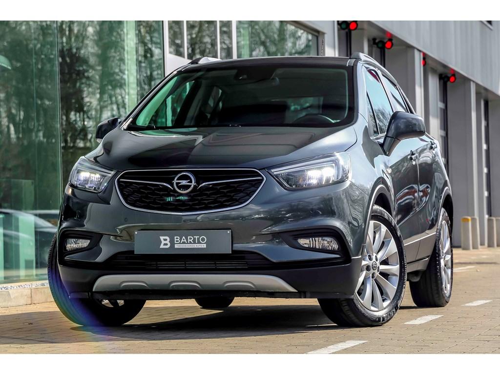 Opel-Mokka-Grijs-14T-Matrix-Leder-Camera-Keyless-Innovation-Weinig-Kms