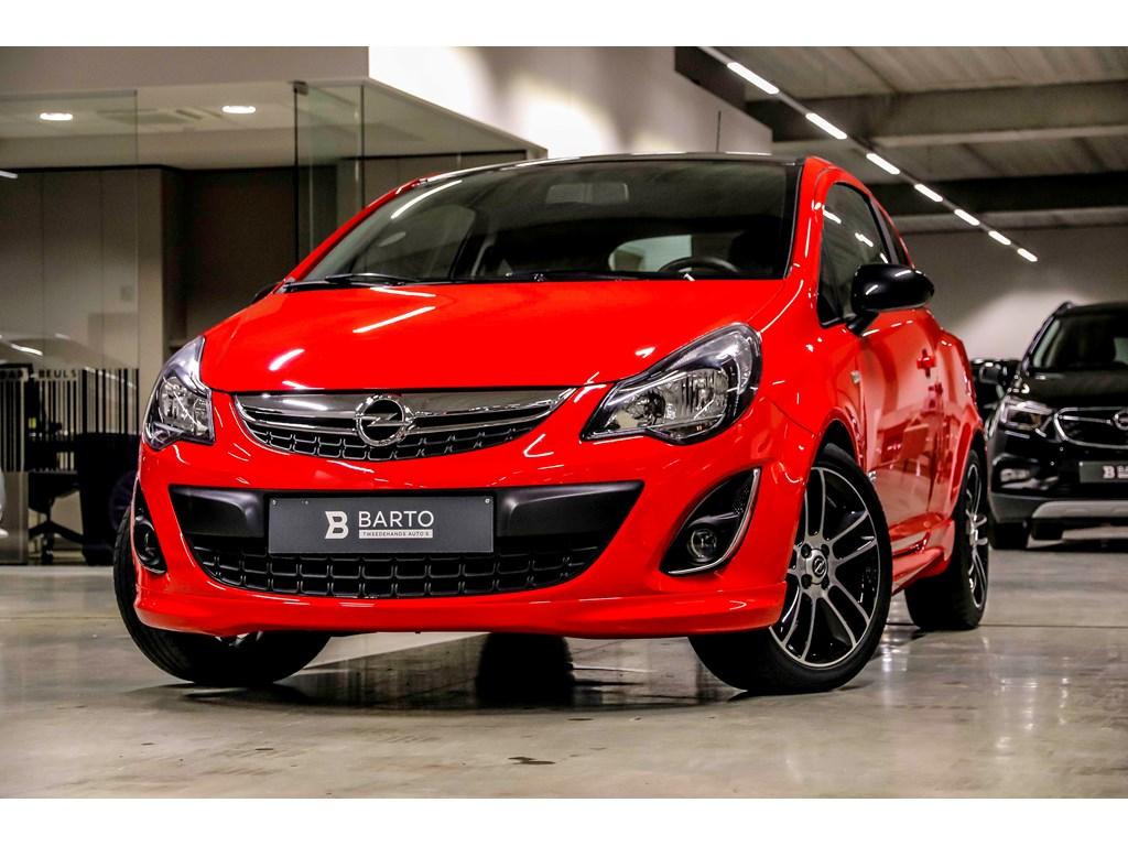 Tweedehands te koop: Opel Corsa Rood - 14b 100pk - OPC line - Navi - Airco - Bluetooth -