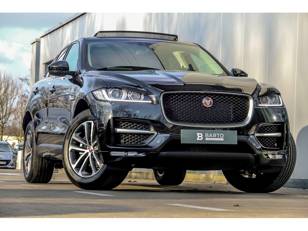 Jaguar-F-Pace-Zwart-R-Sport-Virt-Display-Meridien-Sound-Pano-Grote-navi-NIEUW