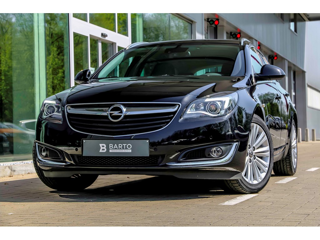 Opel-Insignia-Zwart-16d-136pk-Xenon-Erg-Leder-Auto-Airco-Bluetooth-