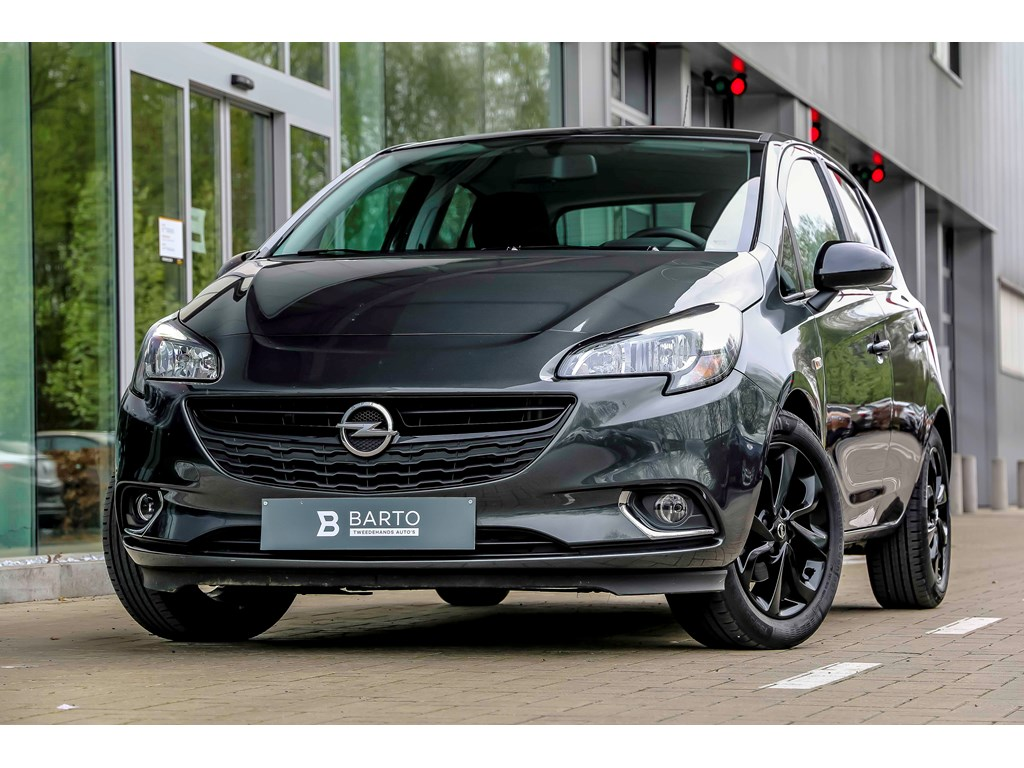 Tweedehands te koop: Opel Corsa Grijs - Black Edition - 14 Benz 90pk - intellilink - CruiseControl
