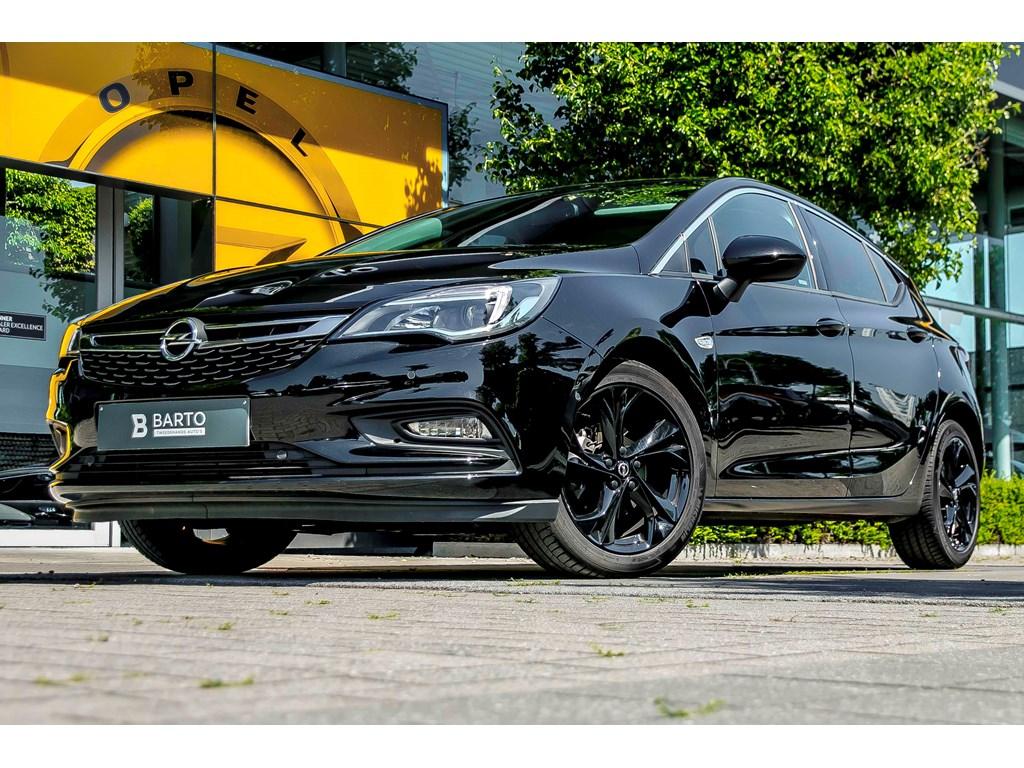 Tweedehands te koop: Opel Astra Zwart - 5-deurs Innovation 14 Turbo 125pk - Dode hoeksens - Navi - Camera - Parkeersens va -