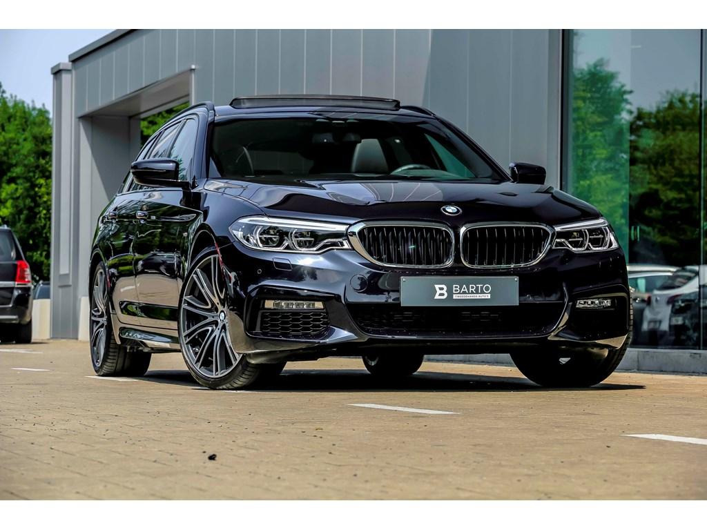 BMW-520-Blauw-M-pack-Pano-Dak-20-wielen-Sportzetels-Full-Electr-Full-LED