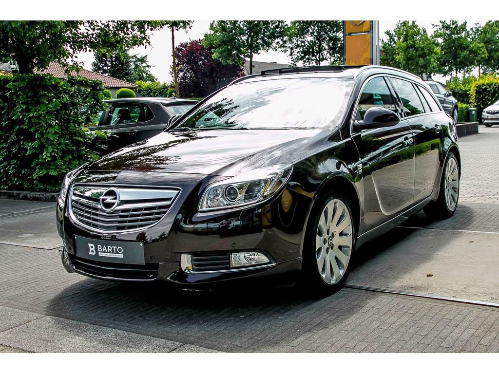Tweedehands te koop: Opel Insignia Bruin - 20d 130pk - Xenon - Erg Leder - Adaptieve Cruisectrl - Pano dak -