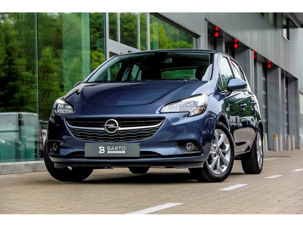 Opel-Corsa-Blauw-14b-90pk-Airco-Cruisectrl-Intellilink-Bluetooth-