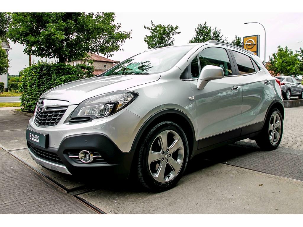 Opel-Mokka-Zilver-Cosmo-17-CDTi-130pk-AUTOMAAT-Leder-Camera-Schuifdak-