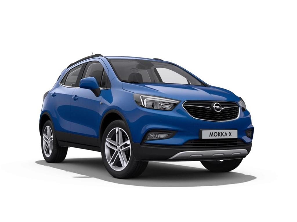 Tweedehands te koop: Opel Mokka Blauw - X Innovation 14 Turbo man 6 versn - Nieuw - Achteruitrijcamera - Navigatie - Leder - 19 inch