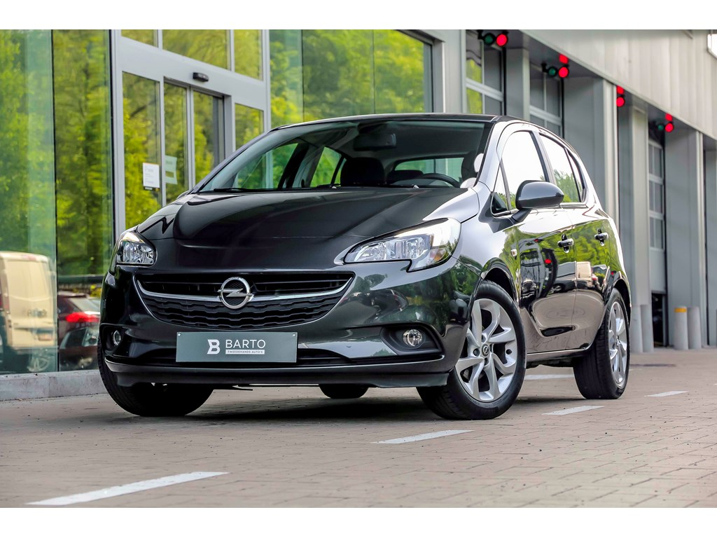 Tweedehands te koop: Opel Corsa Grijs - 14b 90pk - Airco - Cruisectrl - Intellilink - Bluetooth -