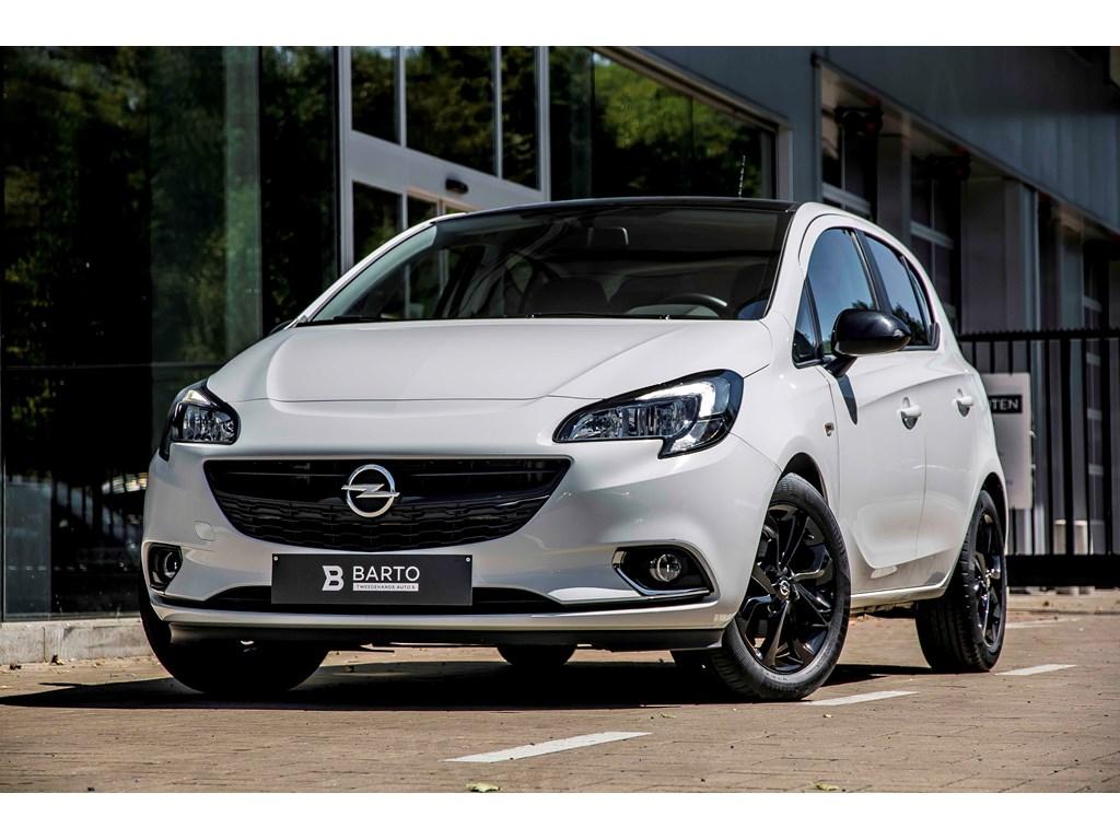Tweedehands te koop: Opel Corsa Wit - 5-Deurs Black Edition 14 Benz 90pk - intellilink Radio - Weinig Kms
