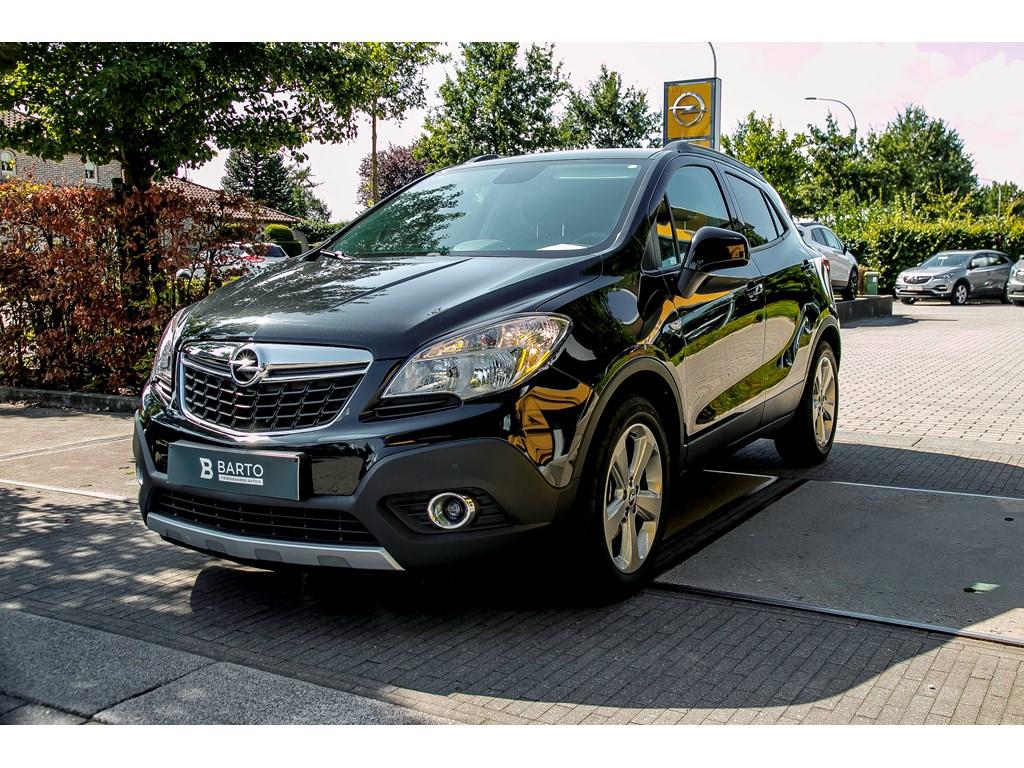 Tweedehands te koop: Opel Mokka Zwart - 17d 130pk - Navigatie - Leder - Parkeersensoren - Verwarmde zetelsstuurwiel -