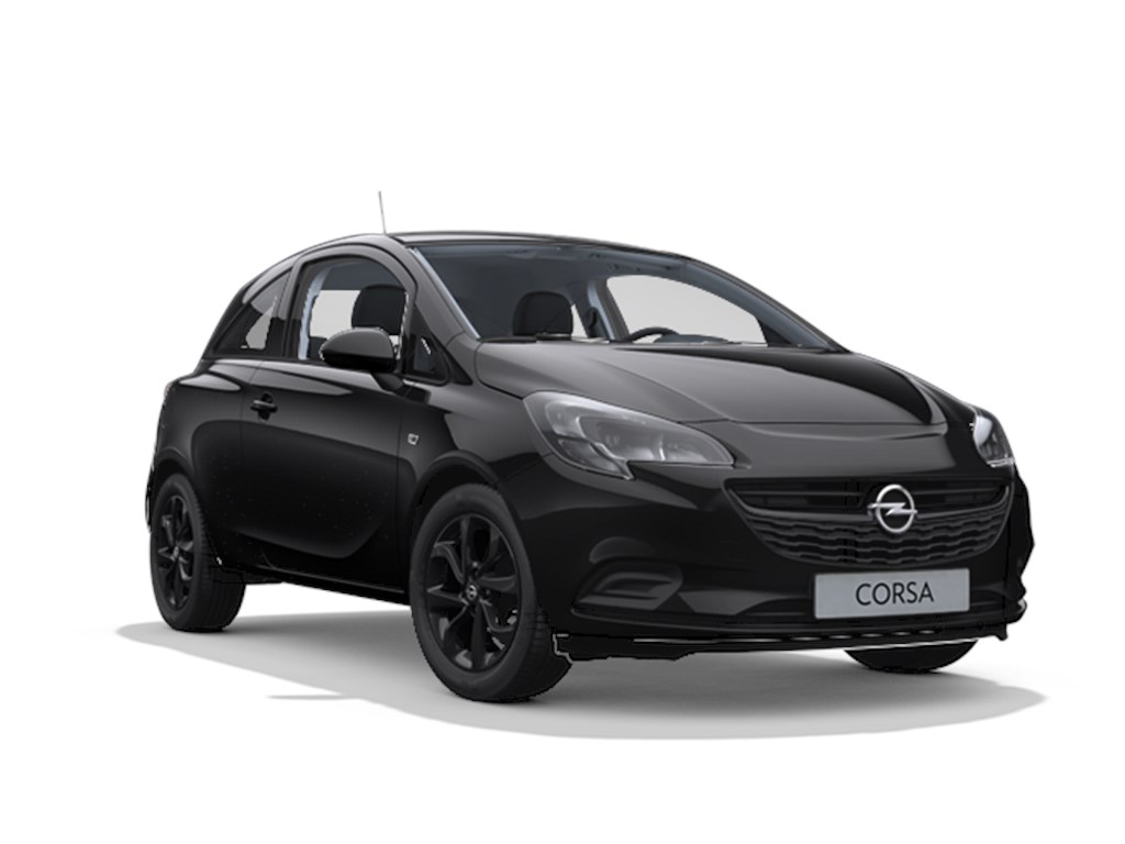 Tweedehands te koop: Opel Corsa Zwart - 3-Deurs 12 Benz 70pk Black Edition - Nieuw