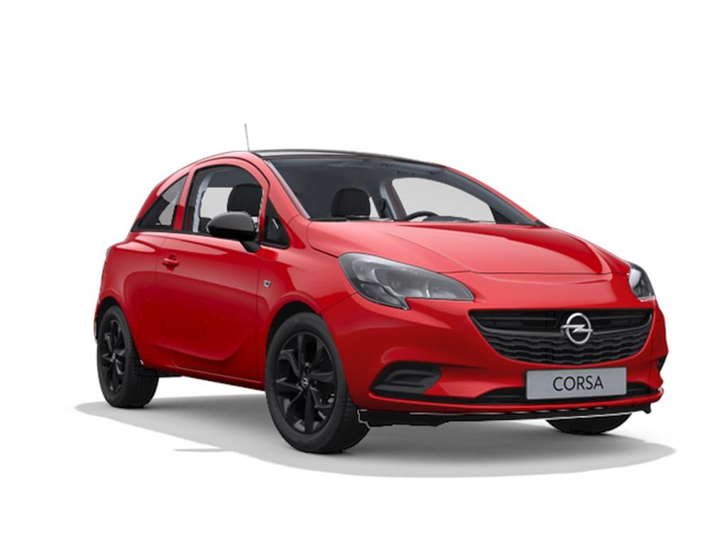 Tweedehands te koop: Opel Corsa Rood - 3-Deurs 12 Benz 70pk Black Edition - Nieuw