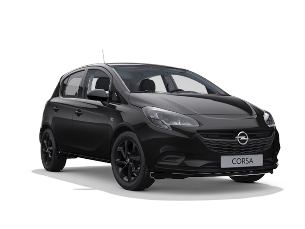 Tweedehands te koop: Opel Corsa Zwart - 5-Deurs 14 Benz 90pk Black Edition - Nieuw