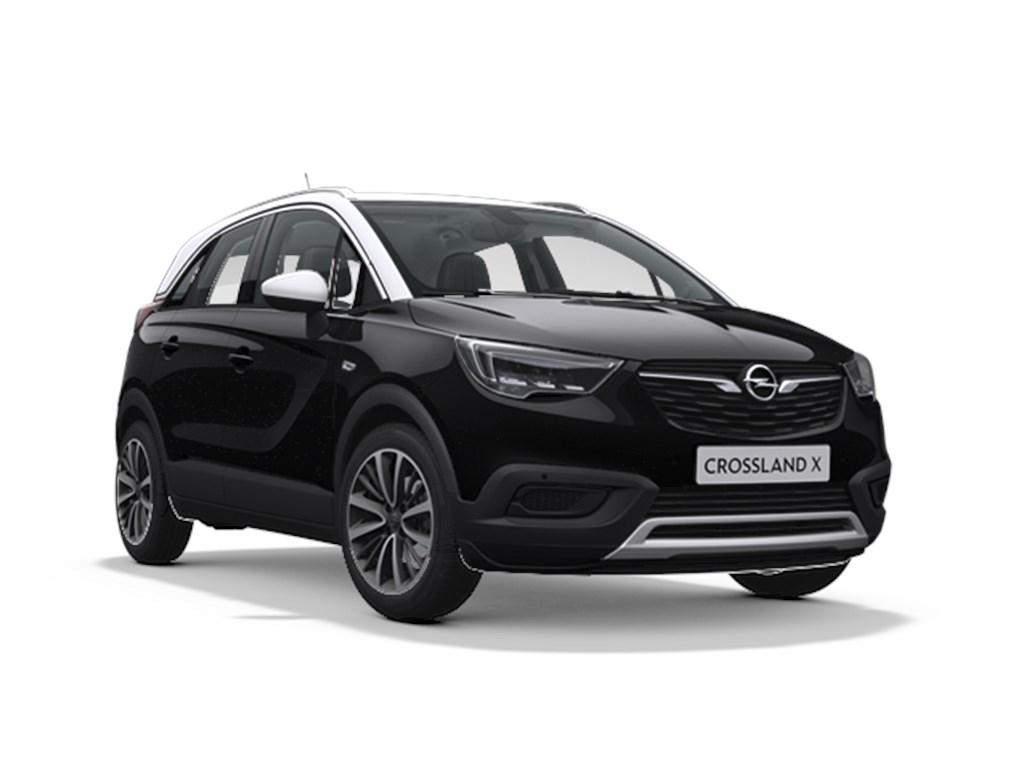 Tweedehands te koop: Opel Crossland X Zwart - Innovation 12 Turbo Benz 110pk - Automaat 6 - Nieuw - Navi - Camera - Led verlichting