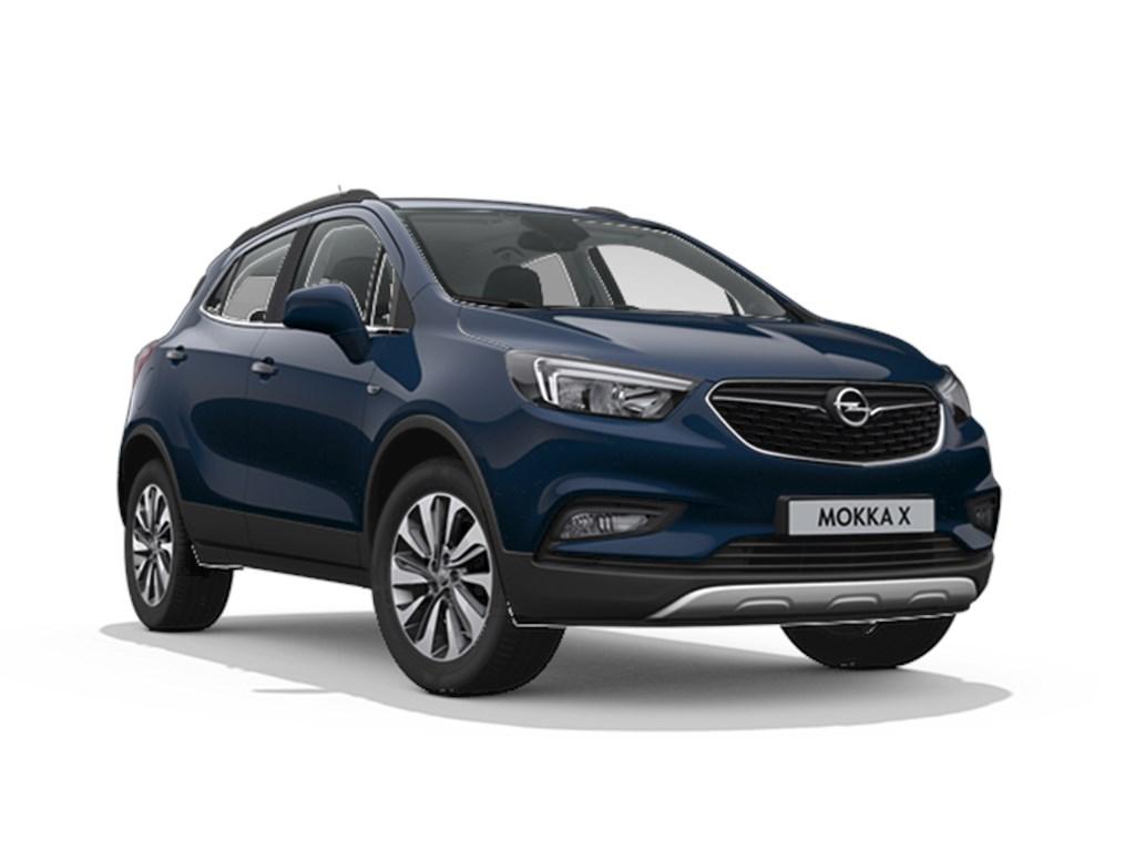 Tweedehands te koop: Opel Mokka Blauw - X Innovation 14 Turbo Automaat 6 - Nieuw - Achteruitrijcamera - Navigatie - Leder
