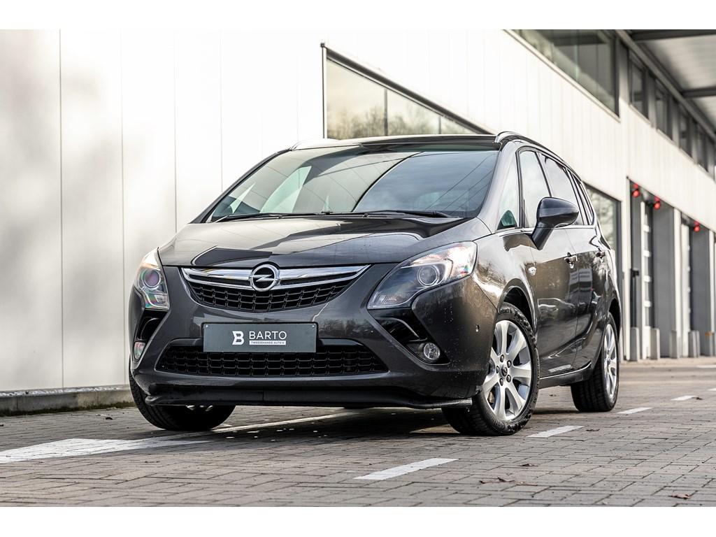 Tweedehands te koop: Opel Zafira Tourer Grijs - 14b 120pk - Camera - Dodehoeksens - Navi - Auto Airco -