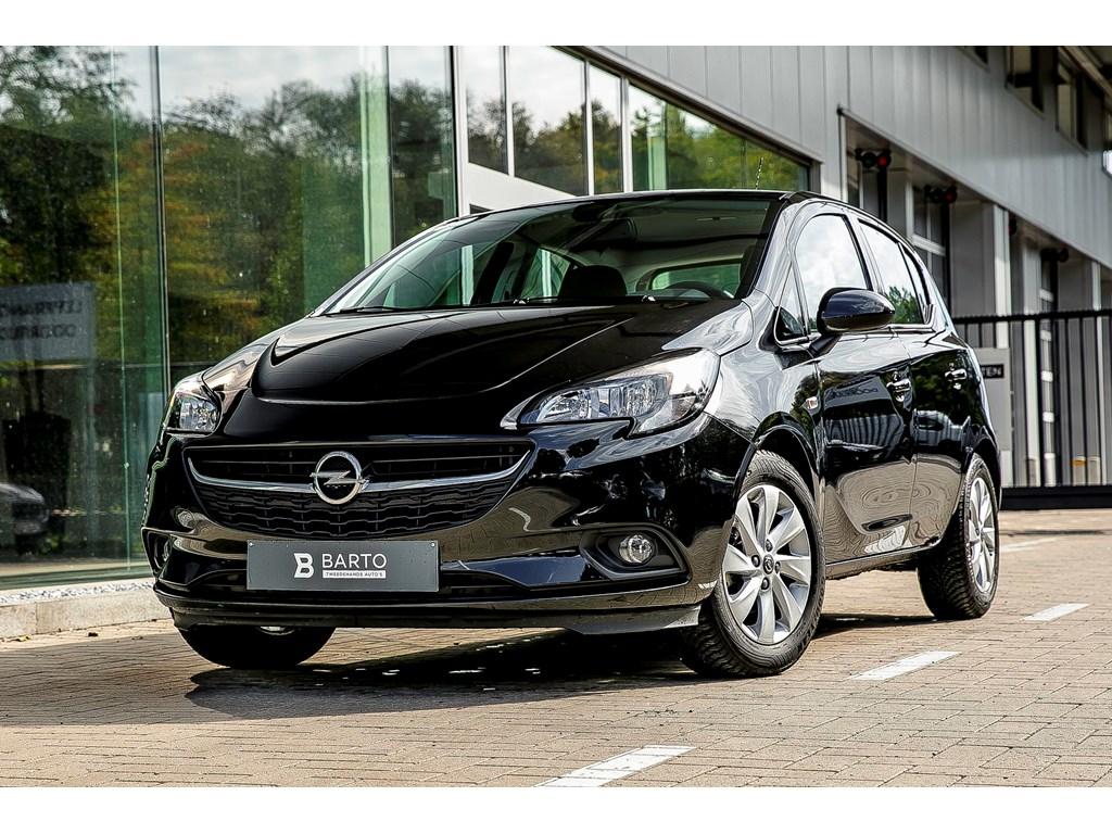 Tweedehands te koop: Opel Corsa Zwart - 12b 70pk - Intellilink - Airco - Auto Lichten - Regensens -