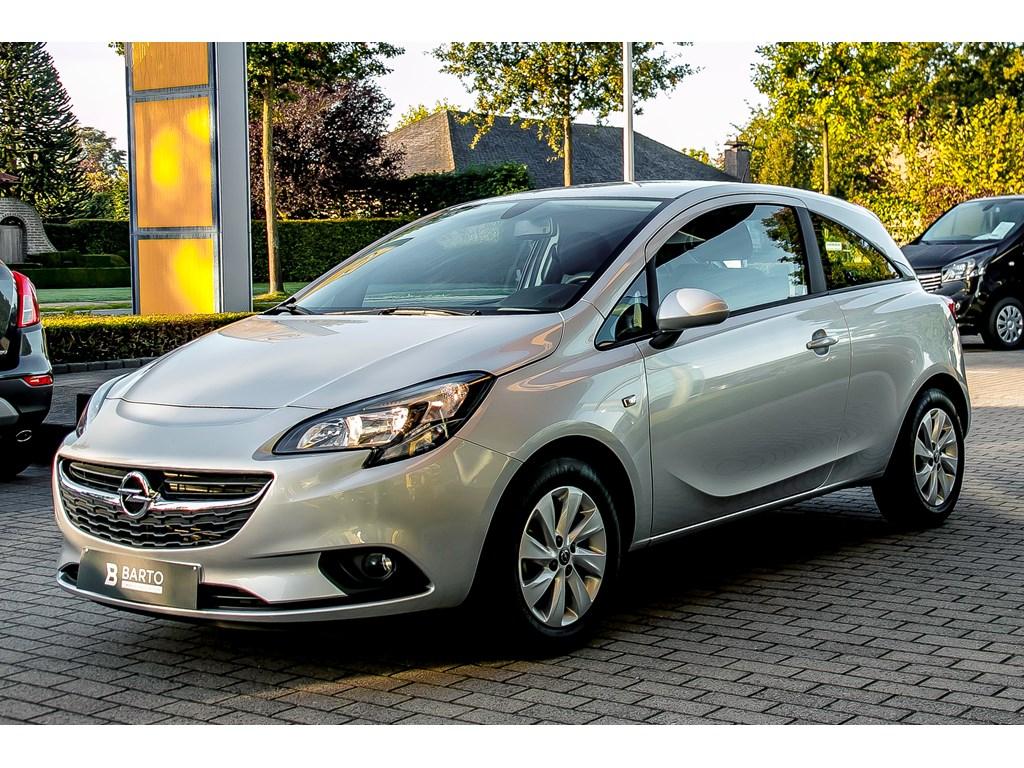 Tweedehands te koop: Opel Corsa Zilver - 3-Deurs 12 Benz 70pk - Airco - Bluetooth - USB - Weinig kms - 1 jaar volledige garantie