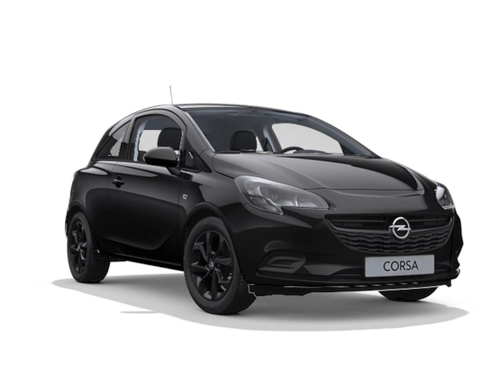Tweedehands te koop: Opel Corsa Zwart - 3-deurs Black Edition 12 Benz 70pk - Nieuw