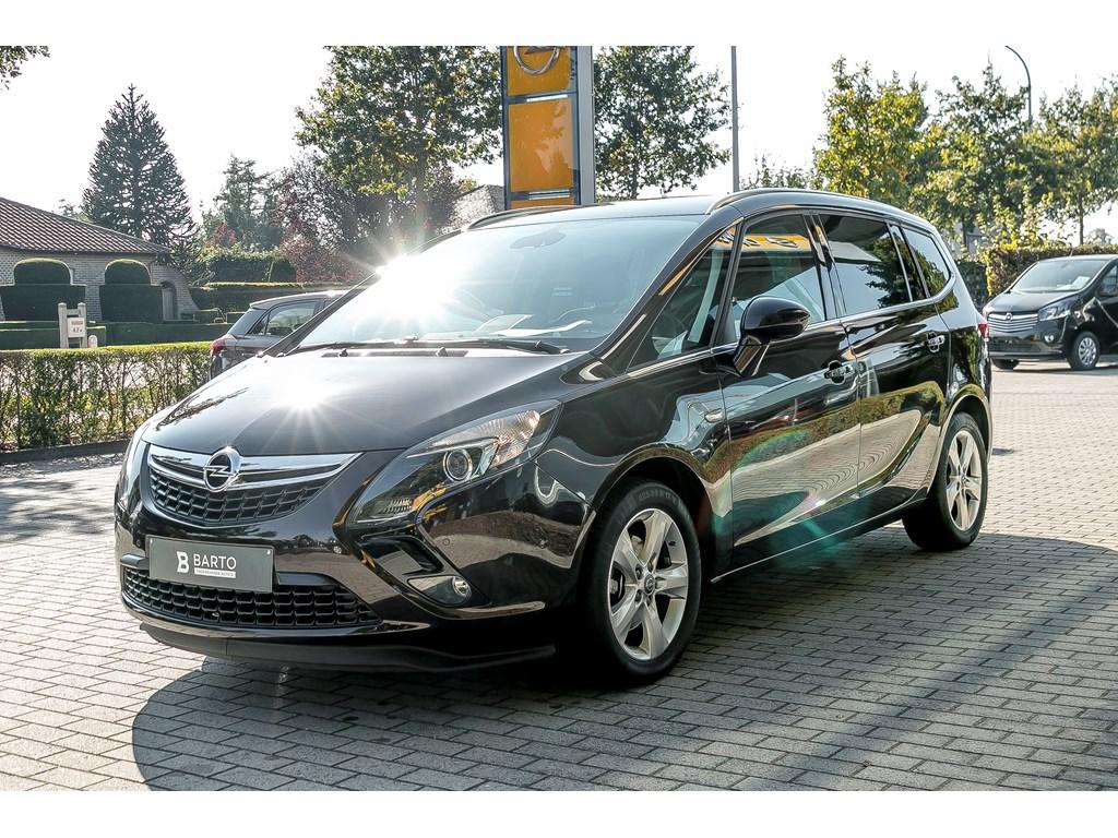 Tweedehands te koop: Opel Zafira Tourer Bruin - 14b 140pk - Camera - Navi - Dode hoek - Parkeersens va -