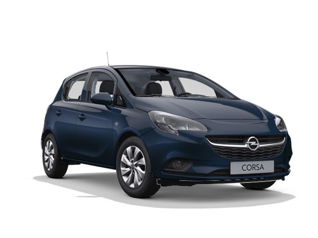Tweedehands te koop: Opel Corsa Blauw - 5-deurs Enjoy 12 Benz 70pk - Nieuw