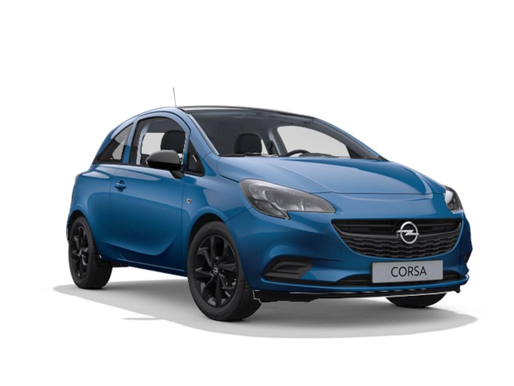 Tweedehands te koop: Opel Corsa Blauw - 3-deurs Black Edition 12 Benz 70pk - Nieuw
