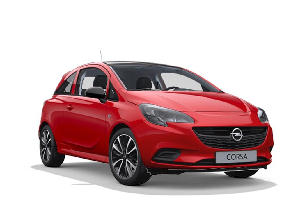 Tweedehands te koop: Opel Corsa Rood - 3-deurs Black Edition 14 Benz 90pk - Nieuw