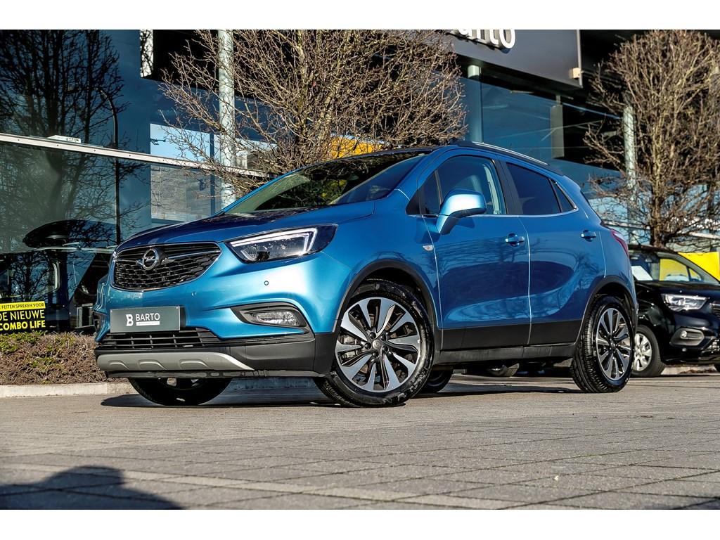 Tweedehands te koop: Opel Mokka Blauw - 14b 140pk - Leder - Open dak - BI color velgen -