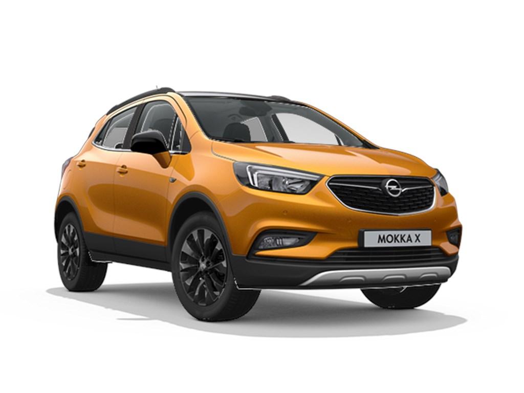 Tweedehands te koop: Opel Mokka Oranje - Design Line 14 Turbo benz Manueel 6 versnellingen StartStop - 120pk 88kw - Nieuw