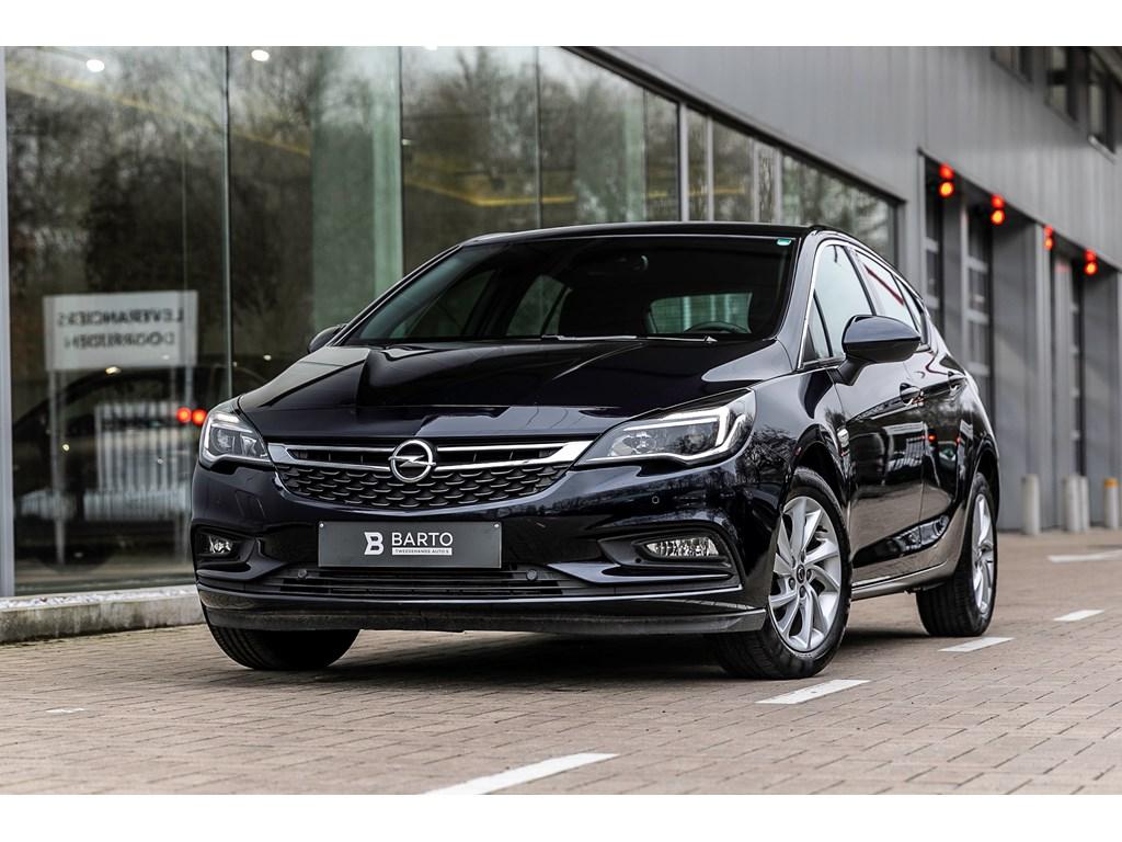 Opel-Astra-Blauw-14b-125pk-Camera-Dodehoeksens-Offlane-Auto-Parkeren-