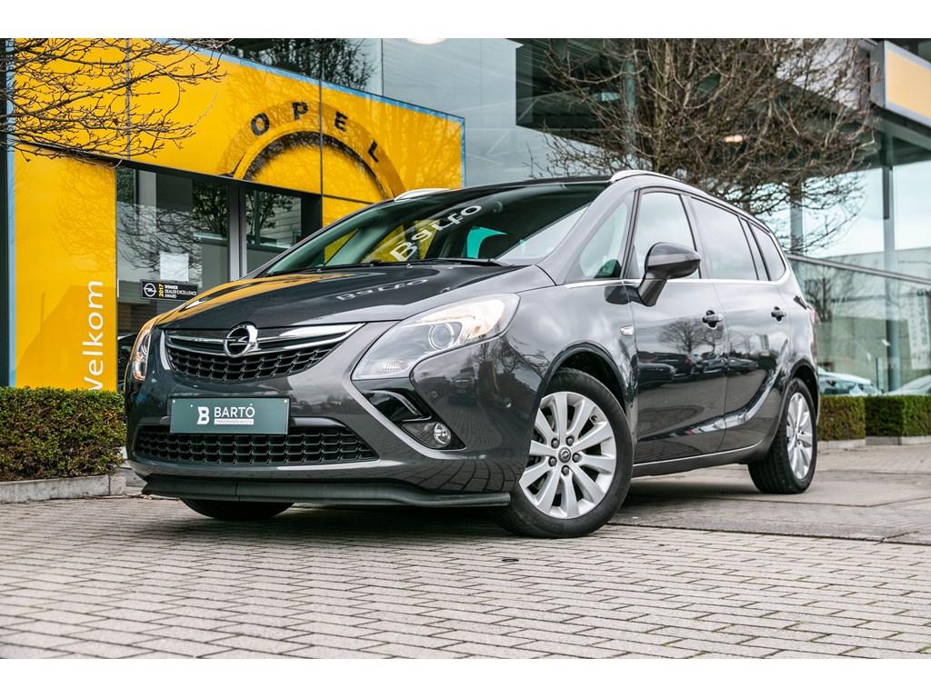 Tweedehands te koop: Opel Zafira Tourer Grijs - 16d 136pk - 5 zits - Navi - Dodehoek waarsch - Camera -