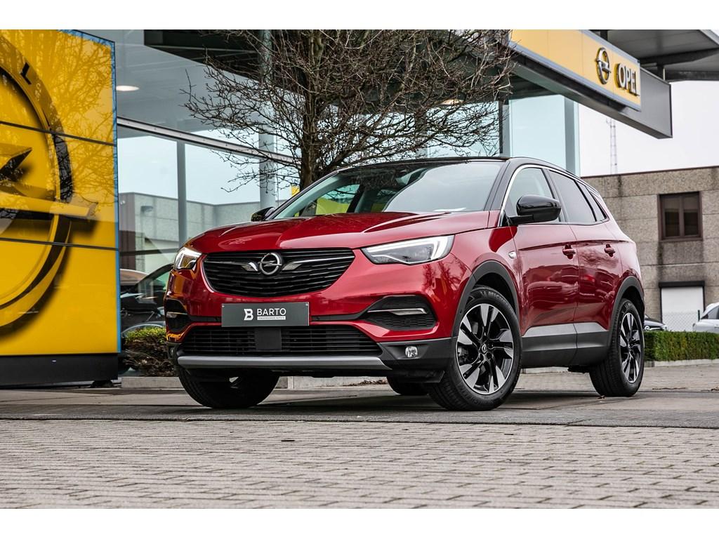 Opel-Grandland-X-Rood-12-Turbo-Benz-130pk-Innovation-Leder-Panoramisch-dak-Dodehoek-Offlane-