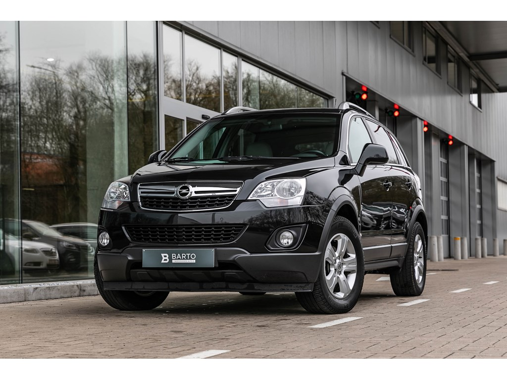 Tweedehands te koop: Opel Antara Zwart - 22d 165pk - Leder - Elektr bestuurderszetel - Afn trekhaak 2000kg trekverm -