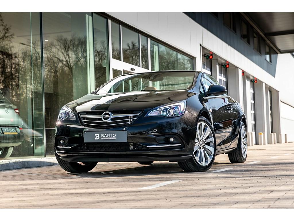 Opel-Cascada-Zwart-14b-140pk-Xenon-Premium-Leder-Zetelverwarmingventilatie-BIColor-Alu-velg-