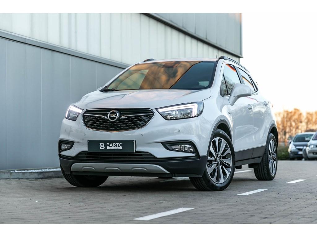 Tweedehands te koop: Opel Mokka Wit - 14b 140pk - EX-demo - Leder - Verwarmde zetelsstuurwiel - Camera - Navi -