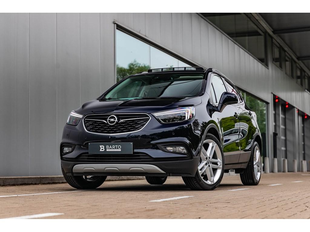 Opel-Mokka-Blauw-14b-140pk-AUTOMAAT-Leder-LEDMatrix-Camera-Offlane-