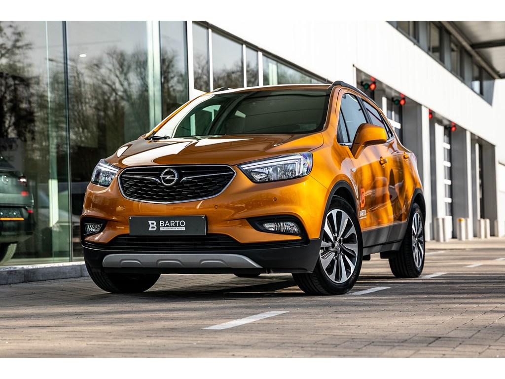 Tweedehands te koop: Opel Mokka Oranje - 14b 140pk - EX-demo - Leder - Verwarmde zetelsstuurwiel - Camera - Navi -