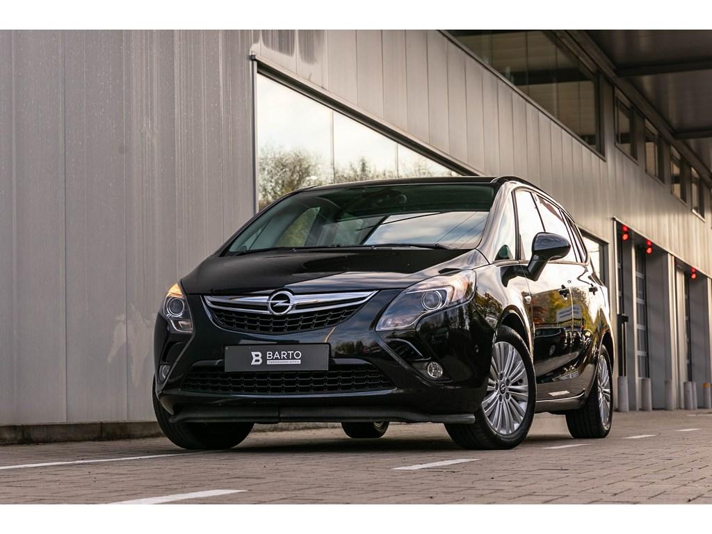 Tweedehands te koop: Opel Zafira Tourer Zwart - 14benz 140pkCameraDodehoekAutoAirco7zitplaatsen