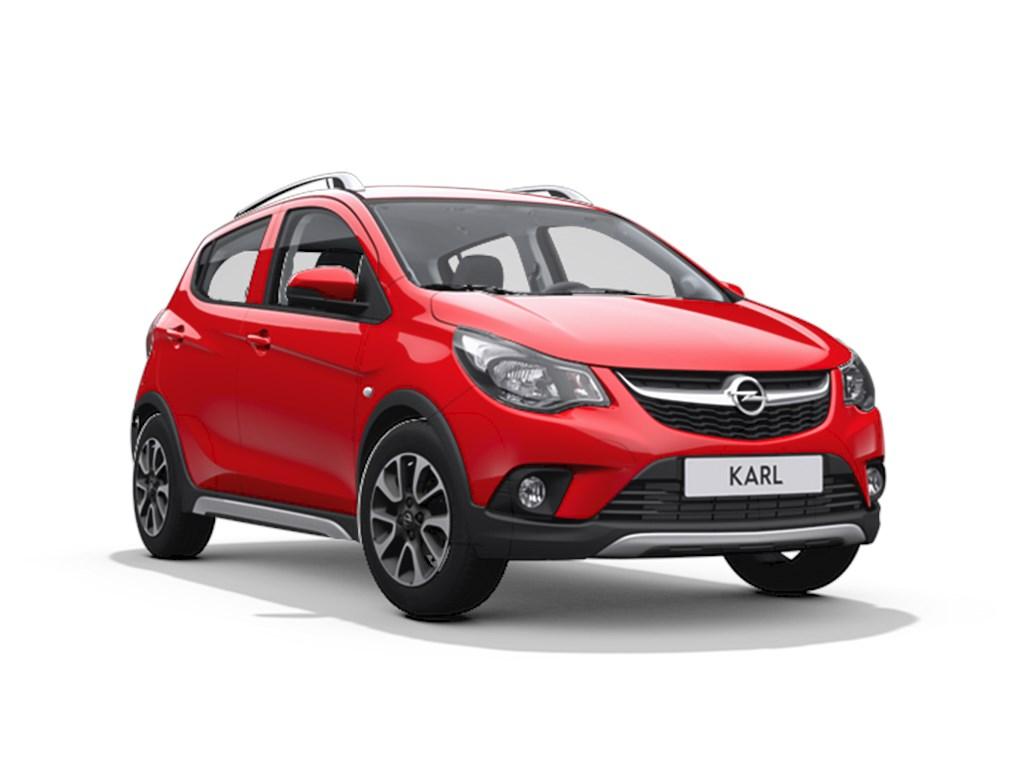 Tweedehands te koop: Opel KARL Rood - 5-Deurs Rocks 10 Benz 73pk - Demo