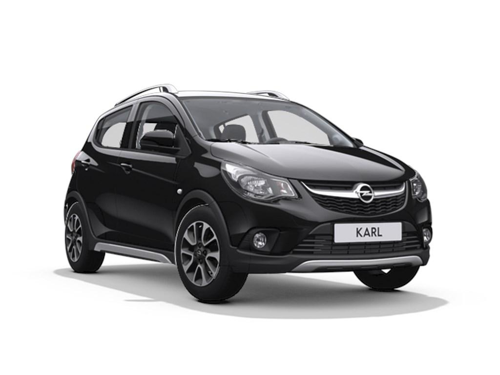 Tweedehands te koop: Opel KARL Zwart - 5-Deurs Rocks 10 Benz 73pk - Nieuw