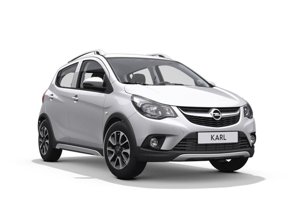 Tweedehands te koop: Opel KARL Zilver - 5-Deurs Rocks 10 Benz 73pk - Nieuw