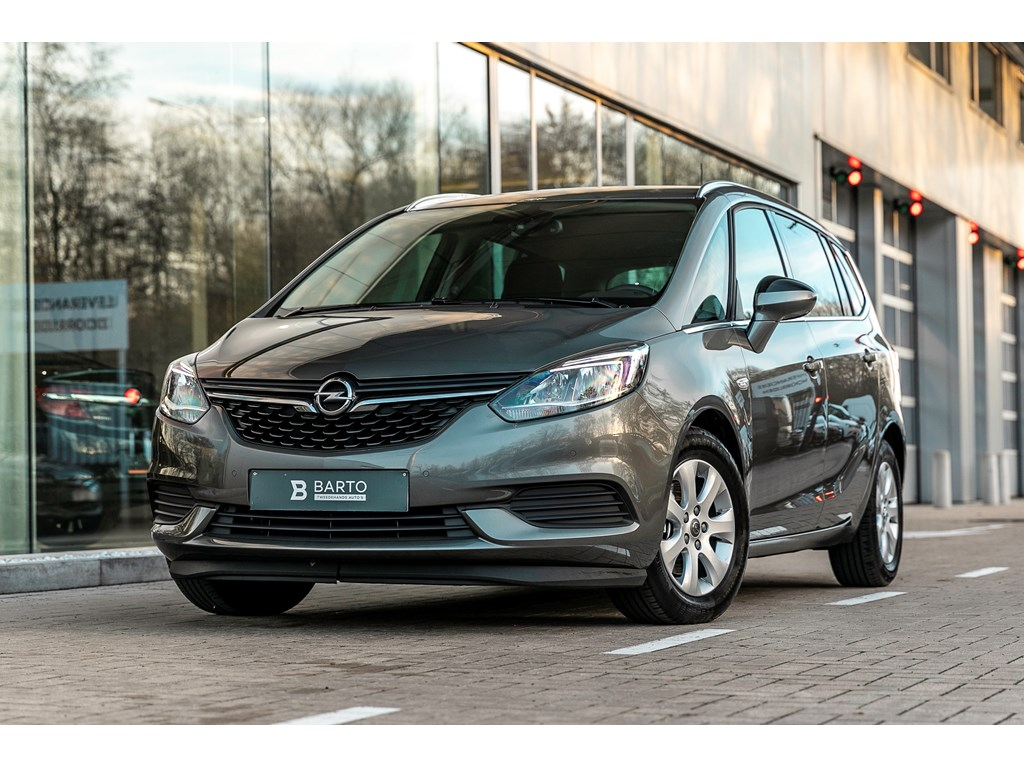 Opel-Zafira-Grijs-14T-7-Zitpl-Navi-Parkeersen-Airco-alu-velgen