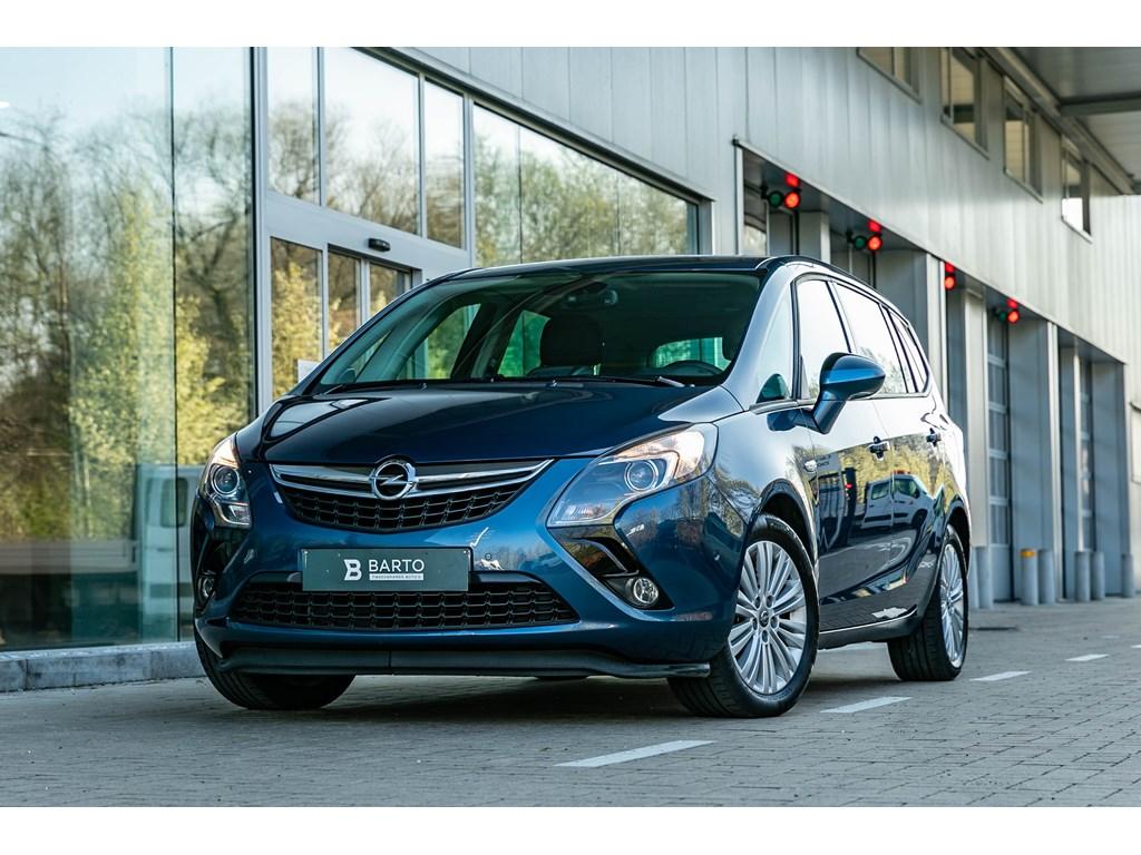 Tweedehands te koop: Opel Zafira Tourer Blauw - 14 Turbo Benz 140pk - Camera - Dodehoeksens - Navi - 7zit