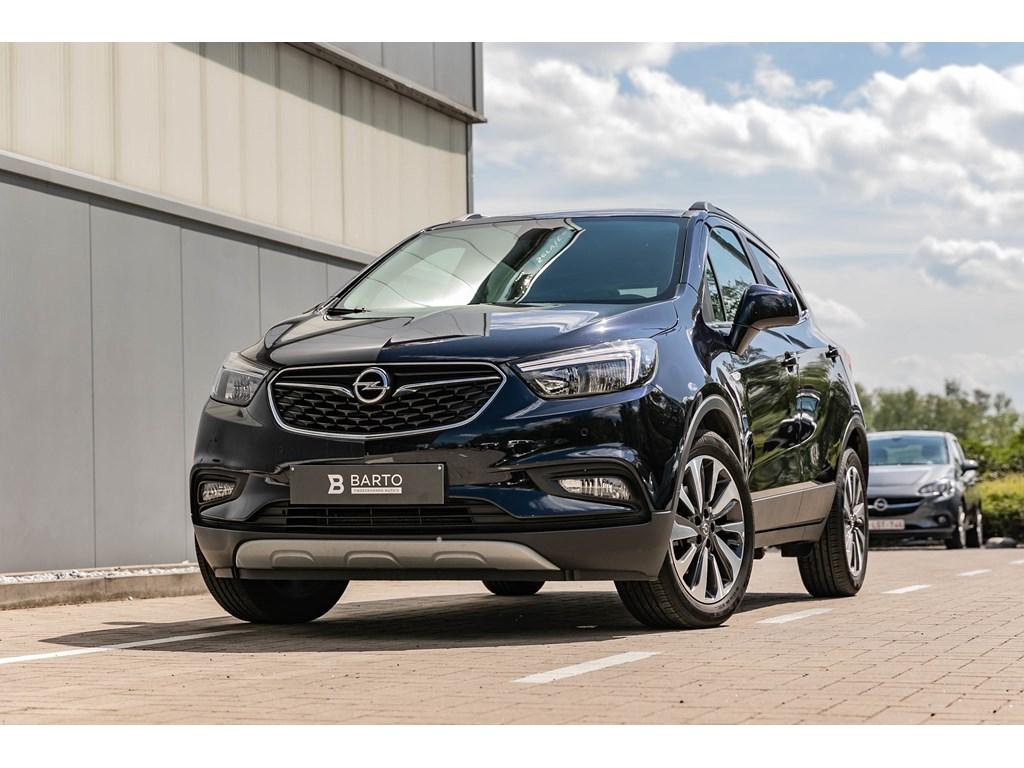 Tweedehands te koop: Opel Mokka X Blauw - 14T - Innovation - Leder - Navi - Bicolor velgen