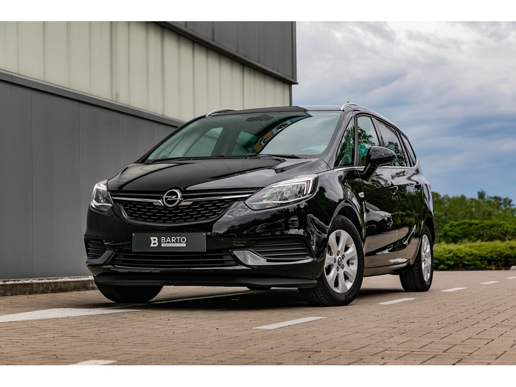 Tweedehands te koop: Opel Zafira Zwart - 14 Turbo Benz 120pk Edition navi 7 zit Parkeers Alu velgen