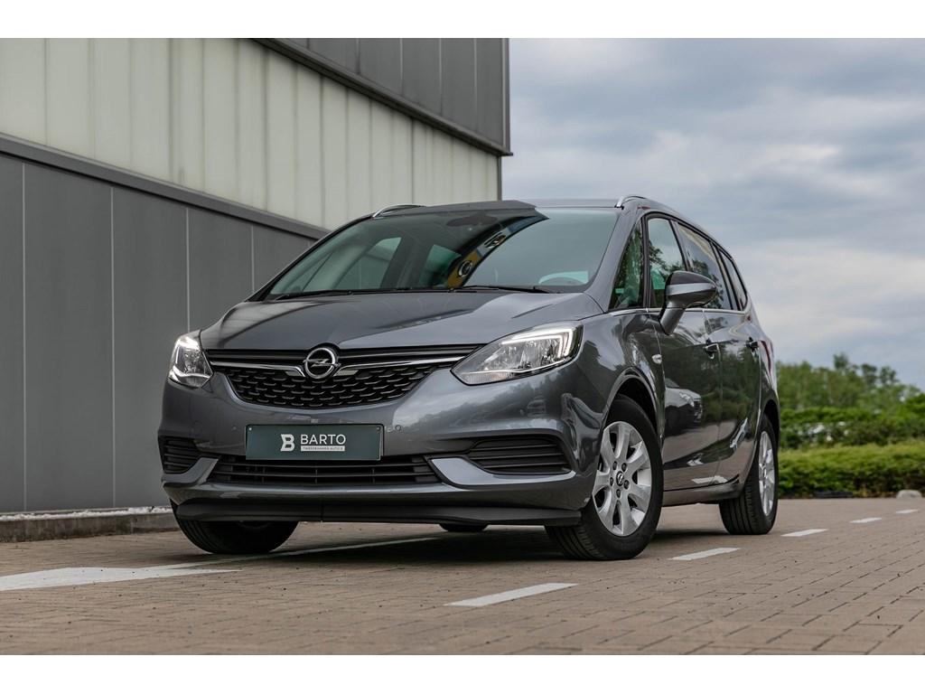 Opel-Zafira-Grijs-14T-Benz-navi-7-zit-Parkeers-Alu-velgen